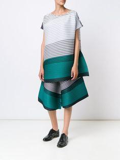 Pleats Please By Issey Miyake striped dress
