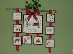 Moda Holiday in the Pines panel as a festive wallhanging.