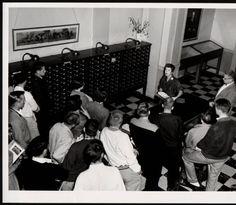 Freshman library instruction at Ohio University's Chubb Library, ca. 1950s :: Ohio University Archives