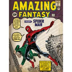 Spider-Man Issue I Poster Graphic Art on Canvas | Wayfair UK