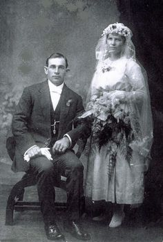 Wedding photo, 16 April 1919