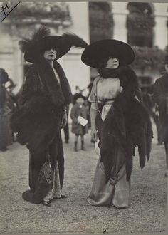 Edwardian furs, feathers and hats. <3 #vintage #1910s #Edwardian #fashion