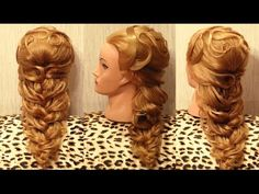 ▶ Вечерняя причёска из накрученных жгутов - YouTube