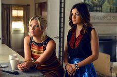 "Hanna & Aria in ""Pretty Little Liars"""