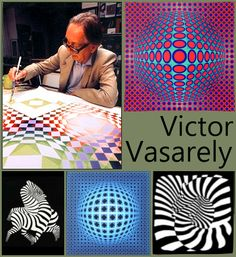 Op Art More You are in the right place about op art lineal Here we offer you the most beautiful pictures about the op art triangle you are looking for. When you examine the Op Art . Victor Vasarely, Op Art Lessons, Art Lessons Elementary, Opt Art, 7th Grade Art, Middle School Art Projects, Zentangle, Elements Of Art, Art Classroom