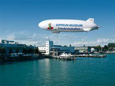 Zeppelinluftschiff- Zeppelinmuseum Friedrichshafen am Bodensee