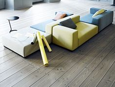 Bett-Sofa / Modul / modern / für Innenbereich LIVING : NEVADA by Busk & Hertzog SOFTLINE A/S
