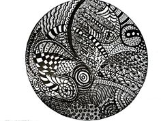 My first attempt at Zentangle - a tangle mandala.