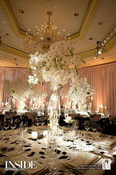 Gorgeous #white #flower #centerpieces