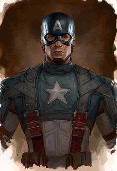 Chris Evans - Is and always will be, Captain America. Perfect casting for a good dude. Capitan America Marvel, Captain America Art, Capitan America Chris Evans, Captain America Winter, Chris Evans Captain America, Captain America Drawing, Drawing Cartoon Characters, Marvel Characters, Cartoon Drawings