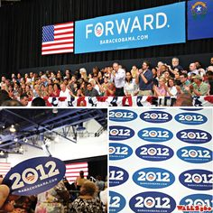 WALLS 360 created custom wall graphics and promotional badges for a recent presidential election campaign event in Las Vegas, Nevada.    blog.walls360.com/political-campaign-re-usable-wall-graph...     political events