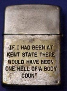 The Vietnam Era Zippo. Unreal quote considering the Kent State massacre of US citizens American Soldiers, American Civil War, American History, Native American, Vietnam History, Vietnam War Photos, Marine Corps Humor, Cool Lighters, My War