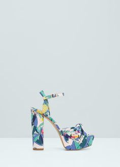 Printed platform sandals - Jewellery for Women | MANGO USA