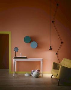 Living room design inspiration and decoration ideas Colour Architecture, Interior Architecture, Room Colors, House Colors, Interior Styling, Interior Decorating, Decorating Ideas, Decor Ideas, Coral Home Decor