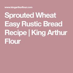 Sprouted Wheat Easy Rustic Bread Recipe | King Arthur Flour