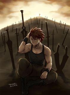 Black Anime Characters, Fantasy Characters, Stay The Night, Fate Stay Night, Anime Oc, Manga Anime, Fate Archer, Amakusa, Shirou Emiya