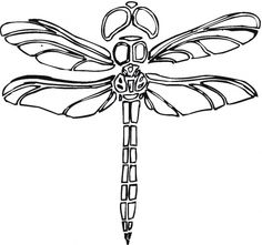 dragonflies images | Dragonfly 4 coloring page | Super Coloring