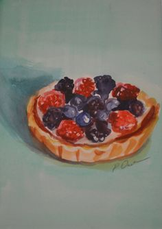 French Pastry Original Watercolor by PaigeDavidsonGallery on Etsy