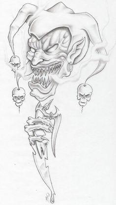 evil jester by markfellows.deviantart.com on @deviantART