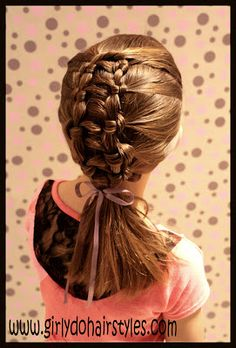 Girly Do's By Jenn: Ladder Braid. I luv this!!  Been wantin 2 do this on Leilas hair since last yr! Lol I kept forgettin about it. Mite do it 4 school this wk ;-)