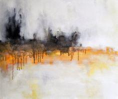 Dark Horizon  Original Abstract Painting  Large par Natureandart, $300,00
