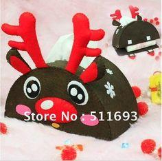 X-mas decoration/tissue box/Christmas felt tissue box/deer design tissue box $888,39