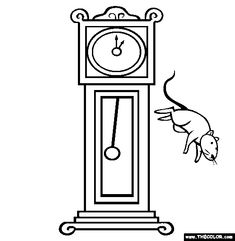 coloring pages for nursery rhymes online coloring pageshickory dickory dockdaycare
