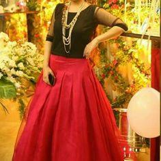 Skirt Chiffon blouse with satin silk skirt Skirts A-Line or Full