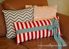 I love this knock-off of Garnet Hill holiday pillow.  This one can be used year round