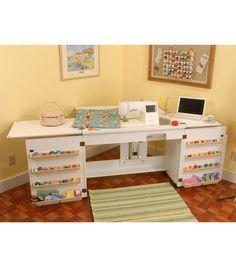 Homespun Bertha Sewing Machine Cabinet White At Joann