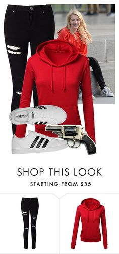 """""""Vee inspired//Nerve"""" by misscreepyashell ❤ liked on Polyvore featuring Miss Selfridge and adidas"""