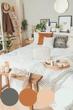 Room Ideas Bedroom, Home Decor Bedroom, Boho Chic Bedroom, Bedroom Inspo, Boho Bed Room, Boho Teen Bedroom, Boho Chic Interior, Boho Chic Living Room, Interior Design