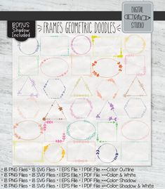 Hand Drawn Border, Shadow Frame, Illustrator Cs5, Drawing Frames, Daily Planners, Heart Illustration, Outline Drawings, Frame Clipart, Frame Wreath