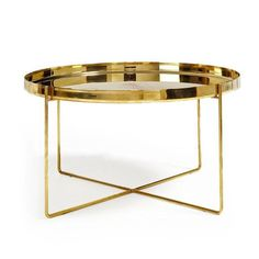 Image of Tray Très Bon Brass Side Table