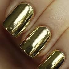 gold painted nails