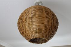 dia spherical pendant lampshade made from buff willow.