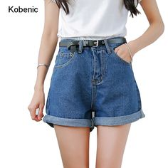 2017 Casual Jean Solid Women Clothing Denim Shorts with Pockets New Arrival  Harajuku Summer Ropa Mujer Slim Short Pants Feminino b19e2edade0