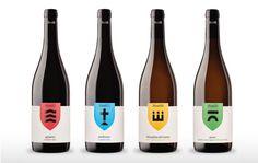 Wine labels for Mustilli, a wine company in Sant'Agata Dei Goti, near Benevento, designed by NJU.