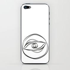 Looking the eye iPhone  iPod Skin by Mauricio Gottsfritz - $15.00
