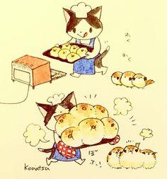 ふっくらスズメのちぎりパン!