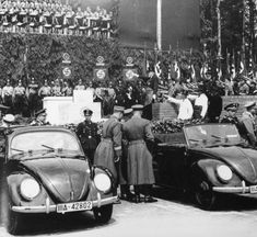 """The history of Volkswagen and the VW Beetle's connection to the Nazi regime, is well documented. On the company's website, it details """"Volkswagen was originally founded in 1937 by the Nazi trade union, the German Labour Front"""" at the behest of Hitler himself, to produce an affordable """"people's car.""""  In 1998, The NY Times revealed that when faced with a class-action lawsuit over the use of slave labor during World War II, Volkswagen inaugurated a $12 million fund to compensate surviving…"""