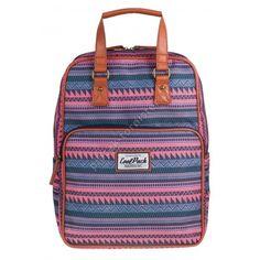 4760e0c27df0a Plecak miejski CoolPack CP w różowe paski CUBIC vinatge SAHARA 1032 - Plecaki  szkolne