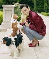 courtney cox and her cavalier spaniels    I knew I liked her for a reason!