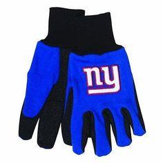 New York Giants Blue/Black Team Logo Licensed NFL Sport Utility Gloves-New!