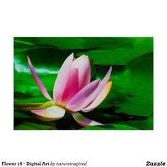 Flower 16 - Digital Art Poster