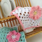 Home Cotton Flower Dishcloth