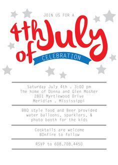 4th of July is in full swing at Paisley Prints #4thofjuly #4thinvitations #invitations #creativeprintdesign