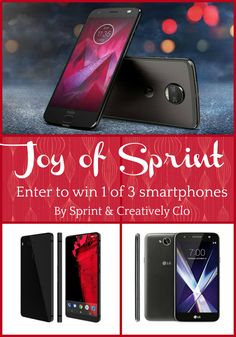 How does a brand new Sprint smartphone under your Christmas tree sound this year? Pretty nice if you ask me -- especially if it's FREE!This holiday season Sprint giveaway will bring joy to 3 lucky winners. Three winners will win 1 of 3 brand new Sprint smartphones.