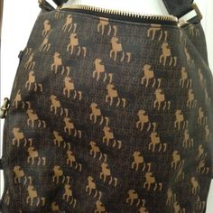 LAMB brown bag Great condition LAMB bag lots of room pockets inside. Has the baby lambs all over the bag. L.A.M.B. Bags Shoulder Bags