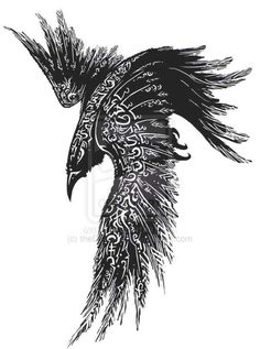 Complete Celtic Raven Tattoo Design -Read Complete Celtic Raven Tattoo Design - Raven tattoo Tribal Crow Tattoo Design More New Tattoo Feather Geometric Design Ideas Thousands ideas which viking tattoo to choose and what is its meaning Getting a Vikin. Feather Tattoos, Body Art Tattoos, Tattoo Drawings, Sleeve Tattoos, Tattoo Bird, Viking Tattoo Sleeve, Tattoo Neck, Tattoo Sketches, Chest Tattoo